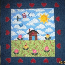ABC House baby quilt June 07