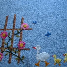 Baby quilt 3 ducks