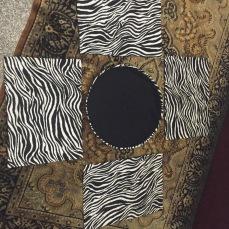 Zebra fabric placemats