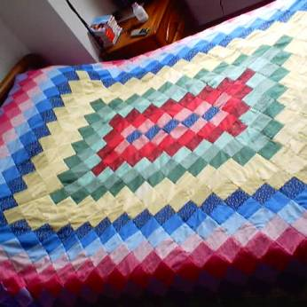 multicolor bedcover