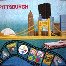 Pittsburgh white background