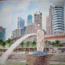 Singapore skyline 2006